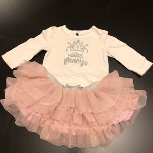Sparkly Princes onesie and pink tutu skirt